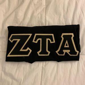 ZTA Sorority Letters, Black